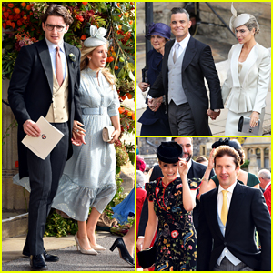 Ellie Goulding & Fiance Caspar Jopling Couple Up at Princess Eugenie's Wedding!