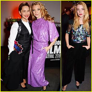 Emilia Clarke & Natalie Dormer Reunite at Persol & BFI London Film Festival Awards Party!