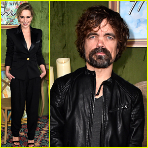Emilia Clarke Supports Peter Dinklage at 'My Dinner with Herve' Premiere!