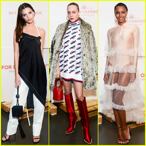Emily Ratajkowski, Chloe Sevigny & More Celebrate Virgil Abloh's Moët & Chandon Launch!