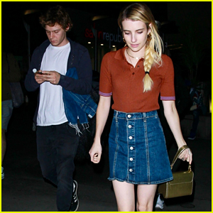 Emma Roberts & Evan Peters Couple Up for a Movie Date!