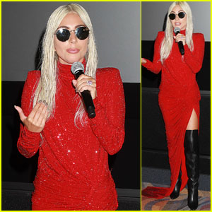 Lady Gaga Surprises Fans at 'A Star Is Born' Screening in NYC!