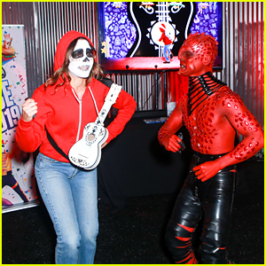 Georgie Flores Is Ready to 'Just Dance' at the Just Jared Halloween Party!