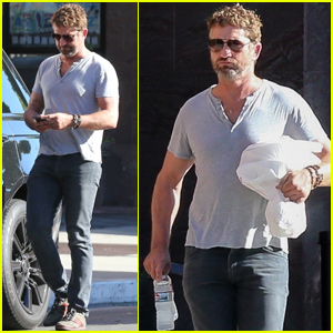 Gerard Butler Grabs Lunch While Running Errands in Beverly Hills