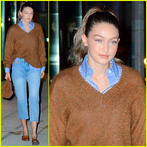 Gigi Hadid Keeps It Comfy for Late-Night Stroll in the Big Apple
