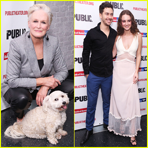 Glenn Close Celebrates 'Mother of the Maid' Opening with Her Pup Pip!