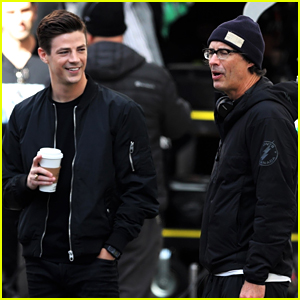 Grant Gustin Films New 'Flash' Scenes with Tom Cavanagh & Jessica Parker Kennedy