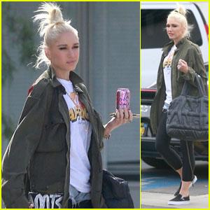 Gwen Stefani Takes the Kids to Son Kingston's Basketball Game!