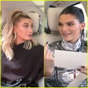 Hailey Baldwin & Kendall Jenner Take a Lie Detector Test on 'Carpool Karaoke' - Watch a Teaser!