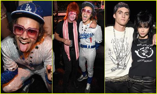 Harry Styles Dresses as Elton John for Casamigos' Halloween Party!