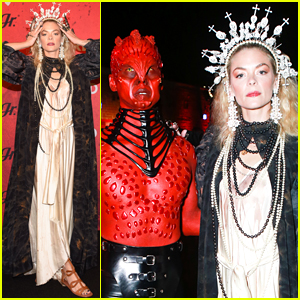 Jaime King Dresses as Saint Joan of Arc for Just Jared's Halloween Party!