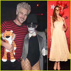 Station 19's Jaina Lee Ortiz & Grey Damon Kick Off Halloween at Just Jared's Party!