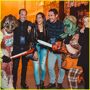 James Franco & Girlfriend Isabel Pakzad Attend Universal Studios Hollywood's Halloween Horror Nights!