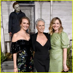 Jamie Lee Curtis Joins Co-Stars Judy Greer, Andi Matichak, & Michael Myers at 'Halloween' Premiere!