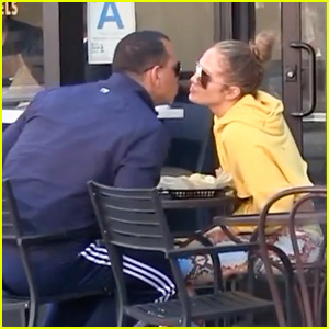 Jennifer Lopez & Alex Rodriguez Show Some PDA During Lunch Date!