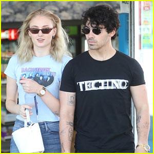 Joe Jonas & Fiancee Sophie Turner Step Out on the Sunset Strip