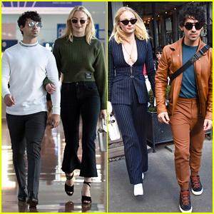 Joe Jonas & Sophie Turner Arrive in Paris for Fashion Week!
