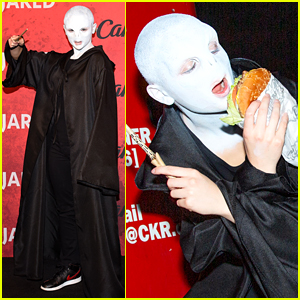 Joey King Transforms Into Voldemort at Just Jared's Halloween Party Presented by Carl's Jr.