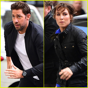 John Krasinski & Noomi Rapace Film 'Jack Ryan' in London!