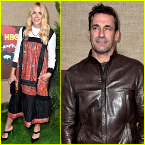 Jon Hamm & Busy Philipps Show Support at 'Camping' Premiere!