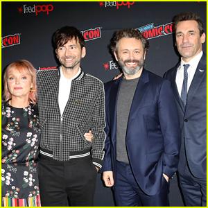 Jon Hamm & David Tennant Debut 'Good Omens' Trailer at NY Comic-Con 2018 - Watch Now!