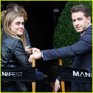 Josh Dallas & Melissa Roxburgh Film 'Manifest' In New York City