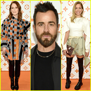 Julianne Moore, Justin Theroux, & Sienna Miller Step Out for Louis Vuitton Event in NYC!