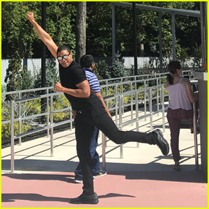 'Justice League's Ray Fisher Tests Out Six Flags' Cyborg Ride!