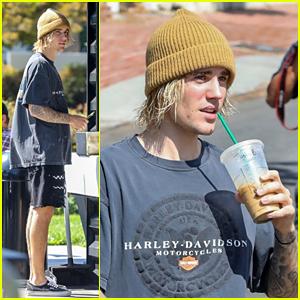 Justin Bieber Brings Starbucks Along for His Hike