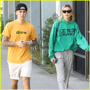 Justin Bieber & Hailey Baldwin Head Out for Lunch Together in Studio City!