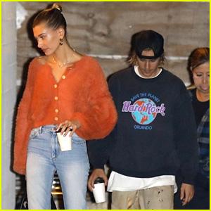 Justin Bieber & Hailey Baldwin Head to Church Together in Beverly Hills