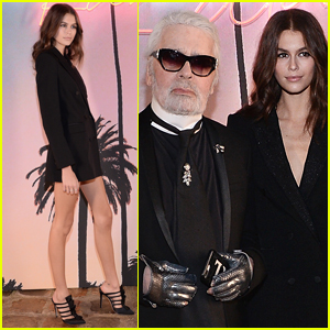 Kaia Gerber Celebrates Launch of Collaboration with Karl Lagerfeld in Paris!