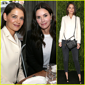Katie Holmes & Courteney Cox Support Female Filmmakers at Tribeca Chanel Luncheon!