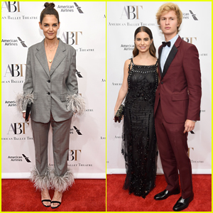 Katie Holmes Joins Ansel Elgort & Girlfriend Violetta Komyshan at American Ballet Theatre Gala