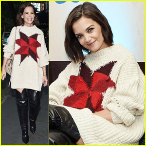Katie Holmes Steps Out To Support Blue Diamond Almonds Holiday House!
