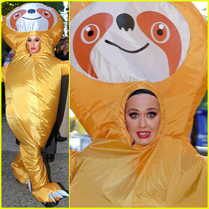 Katy Perry Runs Around New York City in Giant Sloth Costume