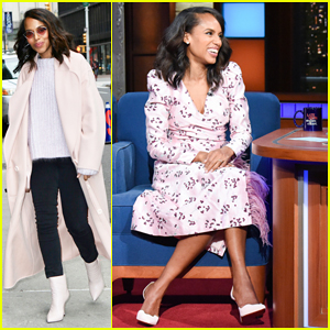 Kerry Washington Urges People To Vote on 'Late Show': 'If You're Mad About Kavanaugh, Vote!'