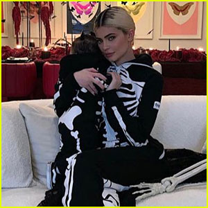 Kylie Jenner & Daughter Stormi Wear Matching Skeleton Costumes for Halloween Bash!