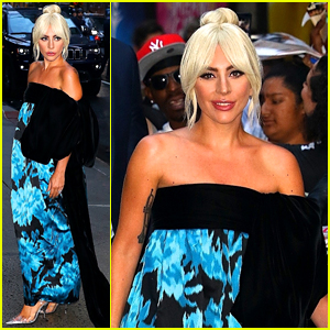 Lady Gaga Looks Stunning While Arriving for 'Colbert' Interview