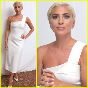 Lady Gaga Looks Stunning at 'A Star Is Born' Press Conference