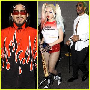 Lauren Jauregui & Boyfriend Ty Dolla $ign Join Adam Lambert at Halsey's Halloween Party!
