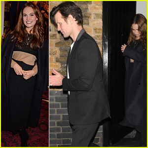 Lily James & Matt Smith Make It a Date Night in London