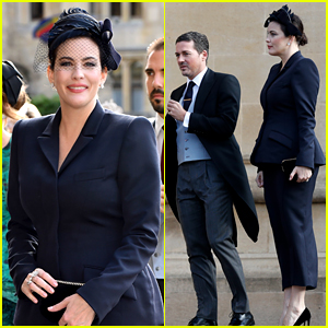 Liv Tyler Wears Chic Suit at Princess Eugenie's Royal Wedding