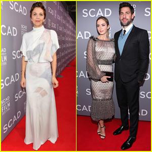 Maggie Gyllenhaal Joins Emily Blunt & John Krasinski at Savannah Film Festival Opening Night Event!
