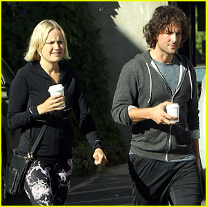 Malin Akerman & Jack Donnelly Couple Up for Coffee & Pilates