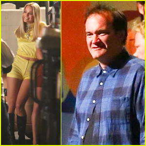 Margot Robbie Rocks Short-Shorts on 'Once Upon a Time in Hollywood' Set with Director Quentin Tarantino!