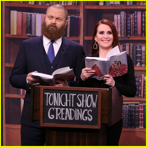 Megan Mullally & Nick Offerman Perform Reading From Their Joint Book On 'Tonight Show' - Watch Here!