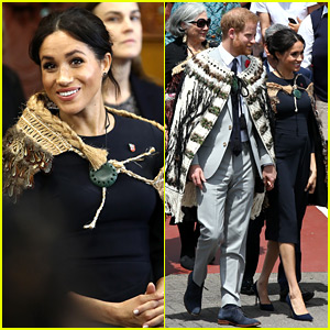 Meghan Markle & Prince Harry Receive a Powhiri Welcome on Final Day of Royal Tour