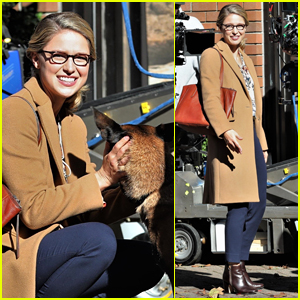 Melissa Benoist is All Smiles on 'Supergirl' Set in Vancouver!