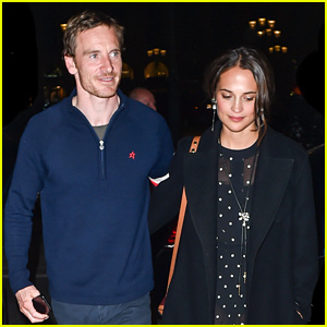 Michael Fassbender & Alicia Vikander Couple Up for Parisian Date Night!